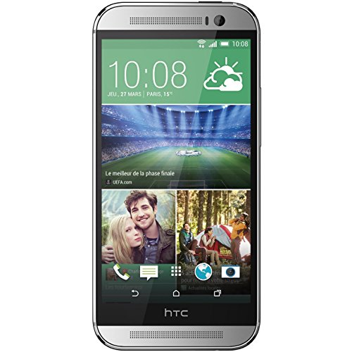 HTC One M8S Smartphone (12,7 cm (5 Zoll) Display, 16GB interner Speicher, Android 5.0 OS) Glazial Silber Htc One X Stereo