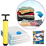 Smart Saver Hand Vacuum Bags with Travel Pump 6 Variety Pack (3XJUMBO, 3XLARGE)