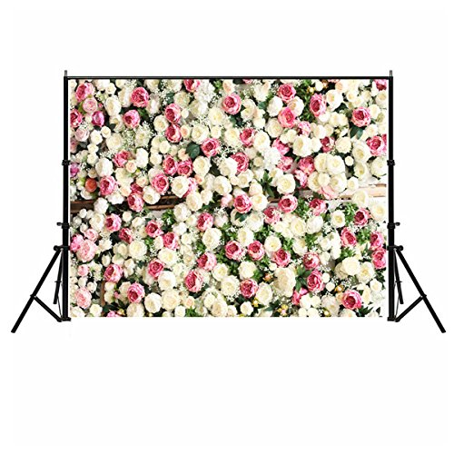 d, 150 x 210 cm, romantische Blumen-Wand, für Hochzeit, Valentinstag, Weihnachten, Babys, Neugeborene, Geburtstagsparty, Model C-666, 150cmX210cm ()
