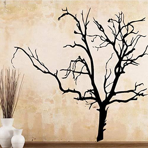 ljradj Klassische verwelkte Baum PVC Wandtattoos Wohnkultur Dekoration Wohnzimmer Schlafzimmer abnehmbare Wandkunst Aufkleber XL 58 cm X 73 cm