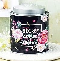 LMKIJN Classique Boîte de Rangement créative Portable Petit Pot de Stockage de thé de Pot (Noir) Bonbonnière