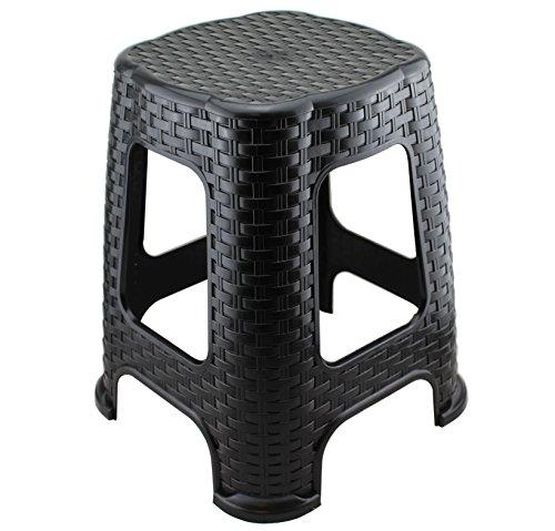 Hoffmanns Sitzhocker 28 x 28 cm Sitzfläche im edler Rattanoptik, 45 cm hoch (Standfläche 35 x 35...