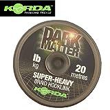 Korda Dark Matter Braid 20m - Vorfachschnur zum Karpfenangeln, Geflochtene Schnur für Karpfenvorfächer, Vorfachmaterial