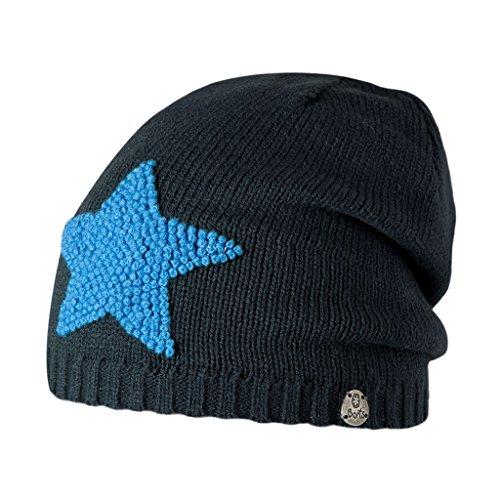 Barts Mütze Baddy Beanie, Blau (Blu con Patch Stella Celeste), 53 cm (ab 4 Jahren) (Bart Mützen)