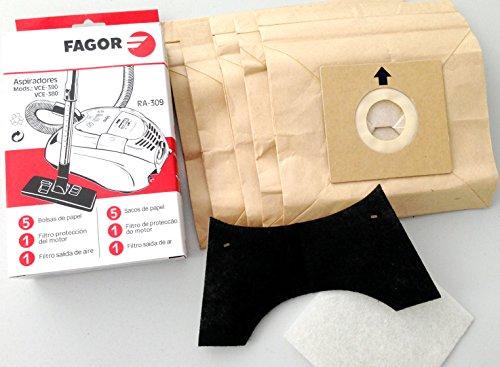 Fagor RA 309Papel Bolsa para aspiradora Compatible con VCE de 390-VCE 380 986010525