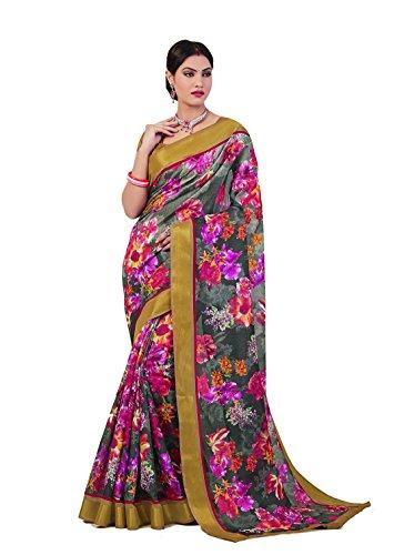 Rejoice Art Silk Saree (Rejoice Saree Art Silk Printed P518006_Multi-Coloured ,)