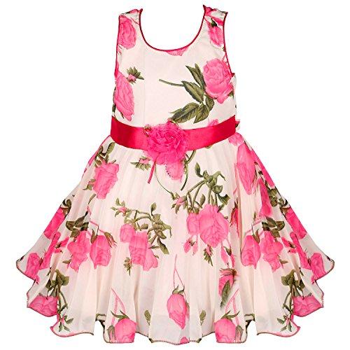 Wish Karo Girls Party Wear Frock Dress (fe85pnk-4-5 Yrs_Pink_4-5 Years)