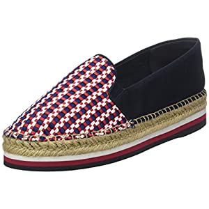 Tommy Hilfiger Damen Corporate Interwoven Flatform Espadrilles