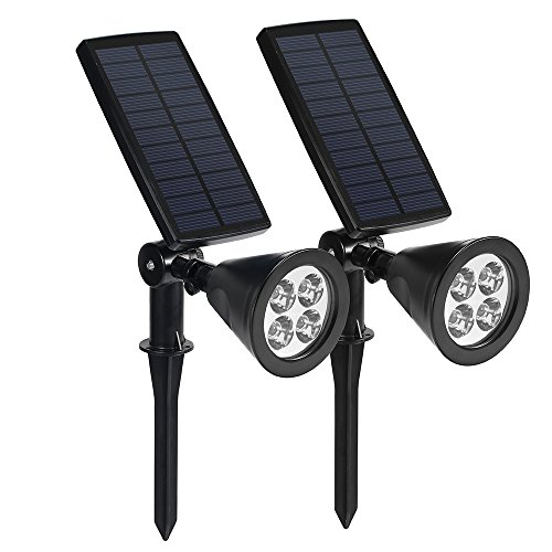 Lampara Solar LED para exteriores 4 LED Ultra Brillantes