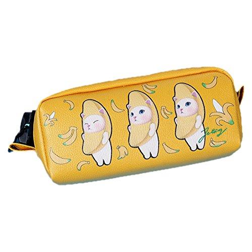 Treestar Katze niedlich Tasche des Handy Mobile Geschenk der Mädchen Beutel Kosmetik Schön Beutel von Schreibwaren 1pcs 20*7*8.5cm C