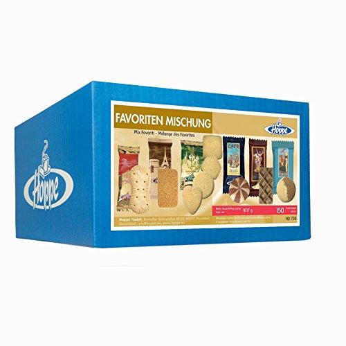 Hoppe Favoriten Mischung, Kekse, Plätzchen, 6 Sorten, einzeln verpackt, 150 Stück, 1017g