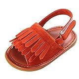 hunpta Toddler niña cuna zapatos recién nacido Flor Suave Suela Antideslizante Baby Zapatillas sandalias naranja naranja Talla:11