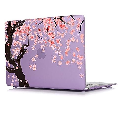 TwoL 13 Zoll MacBook Pro Hülle,Kirschblüten Plastik Hartschale für MacBook Pro 13 Retina (A1502/A1425)