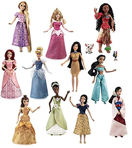 Disney Set Deluxe 11 Principesse Rapunzel Tiana Jasmine Ariel VAIANA...