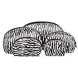 Set Da 5 Borsette Da Make Up Zebra Print Blue Banana