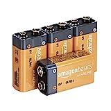 AmazonBasics - Pilas alcalinas de 9voltios de uso diario (pack de 4uds.)