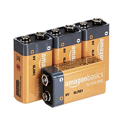 AmazonBasics - Everyday Alkalibatterien, 9 V, 4 Stück