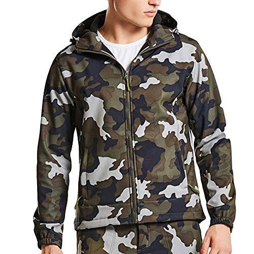 Odjoy-fan-uomo all'aperto camuffare guscio morbido giacche uomo tattico esercito all'aperto cappotto camouflage softshell giacca con artificiale maniche lunghe addensare caldo invernali casual