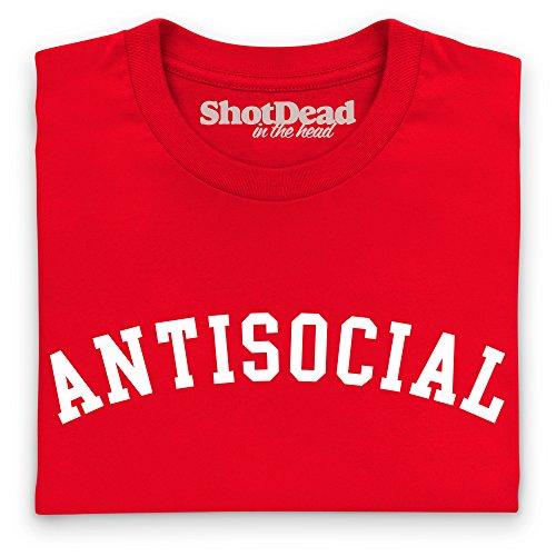 Antisocial T-Shirt, Herren Rot
