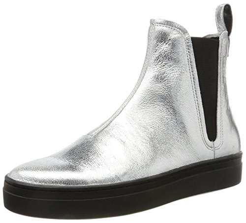 Vagabond Damen Camille Chelsea Boots, Silber (Silver), 38 EU