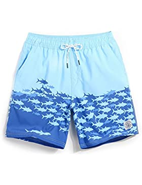 HAIYOUVK Beach Shorts Male Shorts Loose Large Size Printed Casual Shorts Spa Shorts Male Boxer Swim Shorts With...