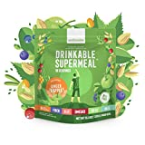 Meal Replacement Nutritional Shake by Ambronite - High Fiber Superfood & Protein Drink for Healthy Weight Loss - All Natural Vegan Smoothie Mix - Quench Hunger - Boost Energy and Focus (Ginger&Apple, 1600kcal)