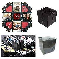 Spero che i prodotti Sparta's Store ti offrano più felicità! esplosione box ,L'esterno sembra una scatola nera.Ma quando lo apri,Sorprenderà tutti!Dopo averlo aperto,È possibile posizionare la foto su una striscia estraibile o montarla sul te...