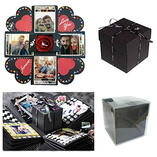 fotoalbum fuer freund Sparta's Store Kreative Überraschung Box Handgemachtes Scrapbook DIY Faltendes Fotoalbum,Explosions-Box, Gedenkalben, Geburtstagsgeschenke, Partygeschenke.