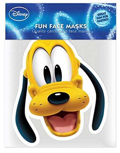 Mouse - Pluto Papp Maske, aus hochwertigem Glanzkarton mit Augenlöchern, Gummiband - Grösse ca. 30x20 cm ()