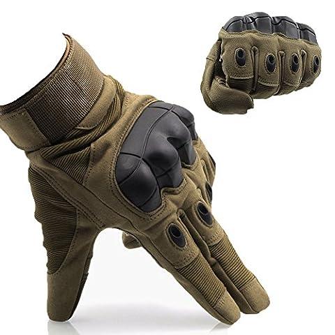 OMGAI Hommes Tech Gants Tactiles De Doigt Militaire Tactique Complet Intelligents Pour Sport Moto Hors Route Courses Cyclisme Camping En Plein Air Avec Marron M