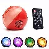 ELEGIANT Altavoces Bluetooth, Mini Altavoz estéreo portátil de Bluetooth con Control a Distancia LED Altavoces Cristal Cajas sin Hilos de Cristal lámpara a LED a Distancia