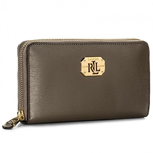 sale retailer 0535d cc9bc RALPH LAUREN LRL Zip Wallet-Wallet-Embossed Leather