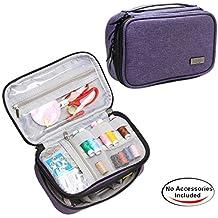 Luxja Organizador de Tejer Bolsa para Accesorios de Coser como Agujas Tijeras Hilos (No incluido accesorios), violeto