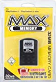 PS2 MAX MEMORY 32MB Yellow-Pack (+10 Classic Retro Games for PS2)