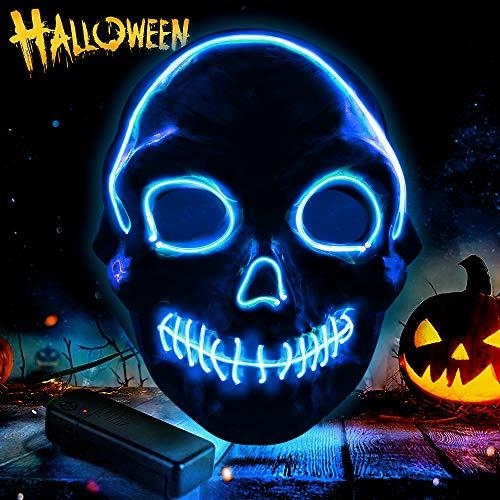 omitium Halloween Maske , 3 Blitzmodi Cosplay