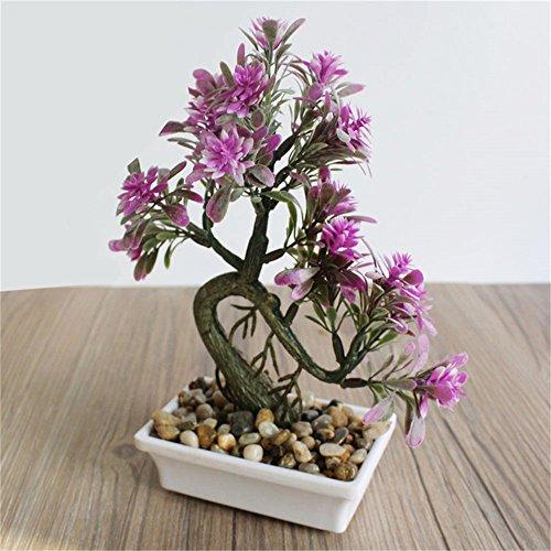 You&Me Simulation Gras Ball Pflanze Bonsai Balkon-Set Getopfte Kunstpflanze Blume Home Dekoration ()...