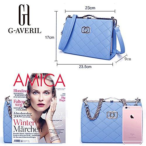 (G-AVERIL) Borsa a Mano Spalla Donna Elegante Pelle Ragazza Grande Borsetta Borsa Tote Shopping Bag Handbag for Women bianco