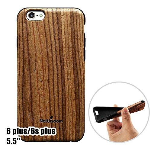 Best iPhone 6Plus/6S Plus Coque en bois Dual-TeakWd