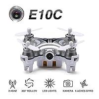 EACHINE E10C Mini Quadcopter with 2MP HD Camera 2.4G 4CH 6 Axis RC Nano Quadcopter Drone RTF Mode 2 HEXNUB by Hexnub