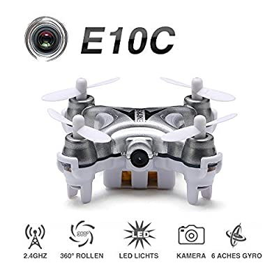 EACHINE E10C Mini Quadcopter with 2MP HD Camera 2.4G 4CH 6 Axis RC Nano Quadcopter Drone RTF Mode 2 HEXNUB