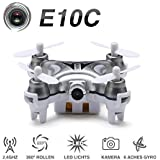 Hexnub Eachine E10C Mini-Quadkopter mit 2 MP HD-Kamera 2,4 G 4K 6-Achsen RC Nano-Quadkopter-Drone RTF Modus 2
