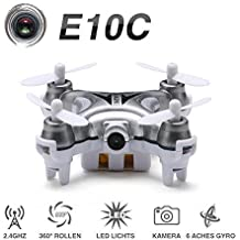 Hexnub Eachine E10C Mini-Quadkopter mit 2 MP HD-Kamera 2,4 G 4K 6-Achsen RC Nano-Quadkopter-Drone RTF Modus 2