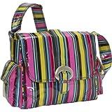 Kalencom Midi Buckle Bag (Petal Stripes)
