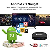 2018 Kingbox K2 Android 7.1 TV Box BT4.0/2GB+16GB Support 4K (60Hz) Full HDMI/H.265/2.4GHz WiFi Smart TV Box with Mini Keyboard