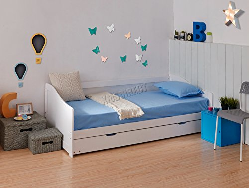 FoxHunter - Struttura per divano-letto singolo in legno solido, con letto estraibile, 0,90 cm, materasso non incluso