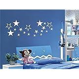swsd (TM) DIY Art Espejo Estrella pegatinas, efecto espejo pared adhesivo para habitación de los niños, los niños de papel de la estrella de decoración