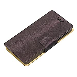 Jo Jo Cover Krish Series Leather Pouch Flip Case With Silicon Holder For LG Optimus LTE SU640 Dark Brown