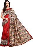 Aracruz Womens Ethnic Clothing Today best Offers Buy Online in Low Price Sale Deal of the Day Latest Collection All Fancy Types Designs Party Wear Red Coloured Beautiful Bhagalpuri