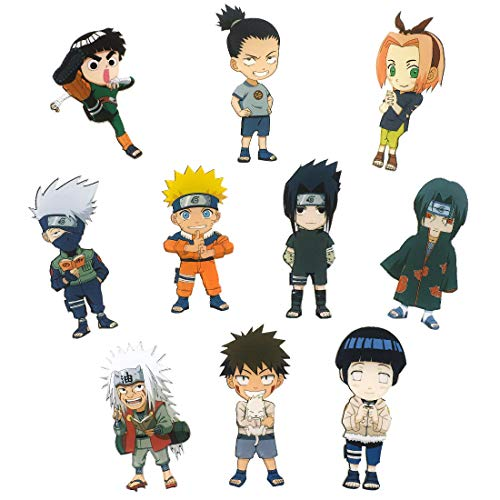 CoolChange Naruto 10 Kühlschrank Magneten mit Chibi Figuren