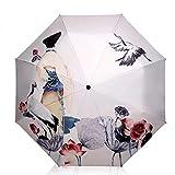 Parapluie de Parapluie de Soleil Frais Petit Poétique Chinois Pliant Protection UV de Parapluie